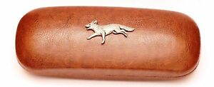Fox Leather Effect PU Glasses Case Hunting Gift Present