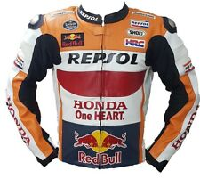 Your Very Own Honda Repsol Motorbike Racing Leather Jacket Include Shipping