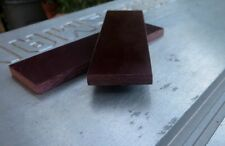 """Westinghouse Maroon and Tan Linen Micarta Knife Blanks Scales 1/4""""  Vint. 1980's"""