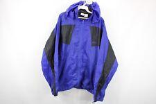 Vintage 90s Asics Mens XL Spell Out Full Zip Hooded Windbreaker Jacket Purple