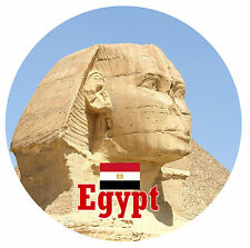 EGYPT -  SIGHTS / FLAG ROUND SOUVENIR FRIDGE MAGNET - BRAND NEW - GIFT /
