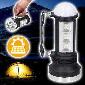 GRUNDIG Solar Camping Laterne 18 LED's Akku Schwarz 360° Bivvy Light Leuchte USB