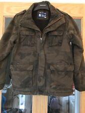 Next Boys Age 9 Green Fur Lined Combat Jacket