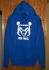 Cummins Diesel Hoodie Blue Poly/Cotton Blend with White Logo Men's size MEDIUM