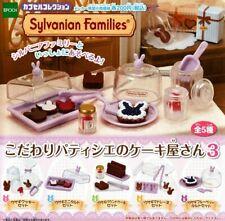 Sylvanian Families Cake Shop Gashapon Set - Complete Set - Japan - Pastry