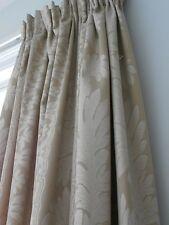 Bespoke handmade gold light beige lined curtains and pelmet  W182cm x L195cm