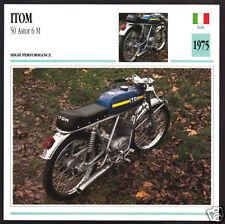 1975 Itom 50cc Astor 6 M (Minarelli Motor) Italy Motorcycle Photo Spec Info Card