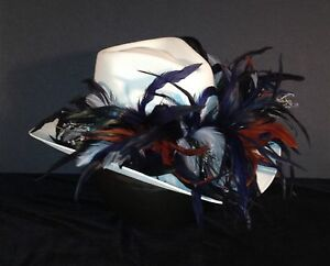 Denver Broncos Feather Team Colors Cowboy Hat - $100 Gift Card with Purchase