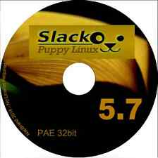 Slacko Puppy 5.7 32bit CD all PC pae processors Linux operating system i586 i686