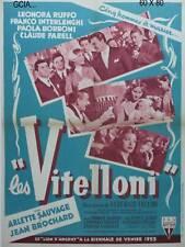 LES VITELLONI -F.FABRIZI- A.SORDI - F.FELLINI-1953 -RKO