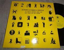 ACTORS & FAMOUS PEOPLE 12 INCH It Doesn't Matter.. RARE UK 80s INDIE PUNK FUNK