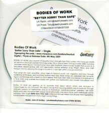 (946H) Bodies of Work, Better Sorry Than Safe - DJ CD