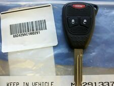 Complete Oem Dodge 3 Button Keyless Remote Head Key Fob