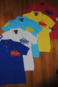 NEW BOYS RALPH LAUREN POLO Dual Match big pony S/S mesh POLO SHIRT size 6T
