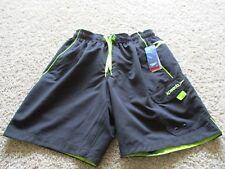 BNWT Speedo Mens' swim trunks, black/green, size S, $42