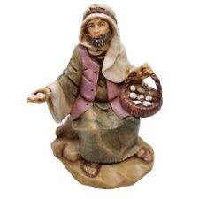 Fontanini Figurine Italy EZRA 129 Egg Seller Merchant Sitting Man Simonetti