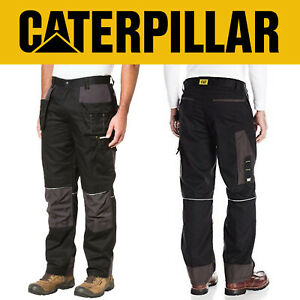 Caterpillar Skilled Ops Multi Pocket Work Trousers Black Graphite Cordura Fabric