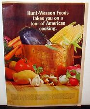 Vintage Hunt-Wesson Newspaper Insert, 11/3/1968: Tour of American Cooking