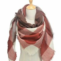 ScarfPro Woolen Brick Red and Coffee Brown Scarf