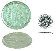 Phantasiestein aus Glas, farblos, 1 Stk., rund, Ø ca. 40 mm, h ca. 5 mm