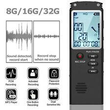 Voice Activated Mini Digital Sound Audio Recorder Dictaphone Mp3 Player 81632g