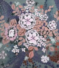 VINTAGE FLORAL FLOWERS GOUACHE PAINTING