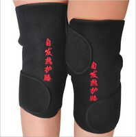 2Pcs New Magnetic Therapy Protect Knee Brace Support Spontaneous Heating Belts