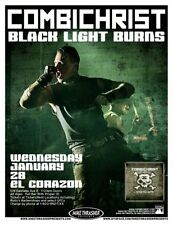 COMBICHRIST 2009 Gig POSTER Seattle Washington Concert