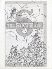 Brian Hurtt SIXTH GUN V1 HC Cover Layout Drawing Original Art