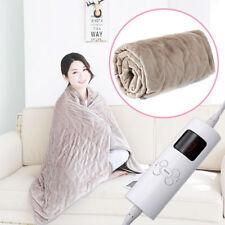Electric Heated Over Throw Blanket Washable Soft Fleece w/ Monitor Warm Mattress