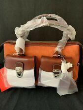 Dooney & Bourke Double Pocket Tote Bag Rust Signature Melange Fabric Purse NWT