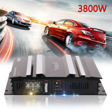 3800W 12V Audio Stereo Power Amplifier 2-Channel Bass Subwoofer Car Home UK