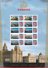 Bc-466 Gb 2015 175th Anniversary of Cunard Smiler sheet Unmounted Mint