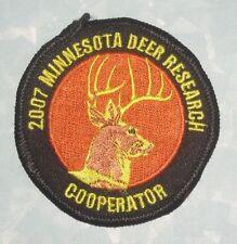 "2007 Minnesota Deer Research Cooperator Patch - 2 5/8"" x 2 5/8"""
