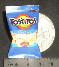 Dollhouse Miniature Tostitos Chips 1:12 Tex Mexican Snacks Food Football Nacho