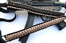 "Tactical 550 Paracord Rifle Gun Sling Single Point Airsoft - Sand / Black 34"""