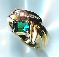 New Right Hand 5 Diamond & Emerald 14kt Yellow Gld Ring, priced below cost