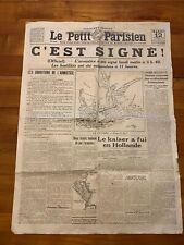 Journal le petit parisien du 12 novembre 1918 - 3iéme édition - C'est signé