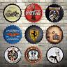 35cm Vintage Tin Metal Beer Bottle Caps Sign Poster Bar Pub Cafe Wall Home Decor