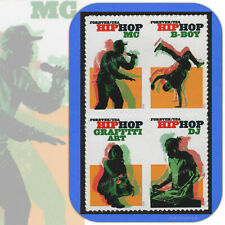2020  HIP HOP Movement BLOCK of 4 Different Attached Forever® Stamps # 5480-5483