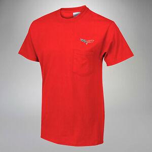 2005-2013 C6 Corvette Crew Neck Pocket T-Shirt w/ C6 Embroidered Logo 619978