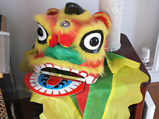 CHINESE YELLOW DRAGON LION M HEAD DANCE COSTUME CHILDREN NEW YEAR PARTY DECO C1