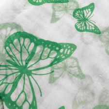 BELLISSIMO Verde su Bianco Farfalla lunga estate Sciarpa Scialle Sarong