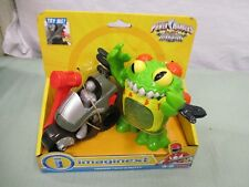 Fisher price imaginext power rangers terror toad & putty green silver motorcycle