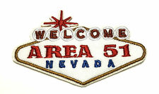 Welcome Area 51 Embroidered Patch Iron/Sew-On Applique X-Files Cryptid Mystery
