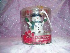 "NIB, ""YANKEE CANDLE SNOWMAN LUMINARY TEA LIGHT CANDLE HOLDER"",Sparkling Cinnamon"