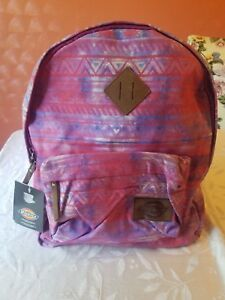 Dickies Canvas Backpack for girls.  Multicolor.  Everyday Backpack . 100/ Cotton