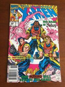 UNCANNY X-MEN # 282 VG/FN 1ST APP OF BISHOP NEWSSTAND EDITION MARVEL COMICS