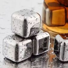 Stainless Steel Whiskey Stones Ice Cubes Glacier Soapstone Cooler Bar Pub Decor