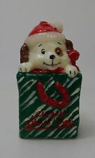 Vintage Christmas Candle  Christmas Puppy in a Box